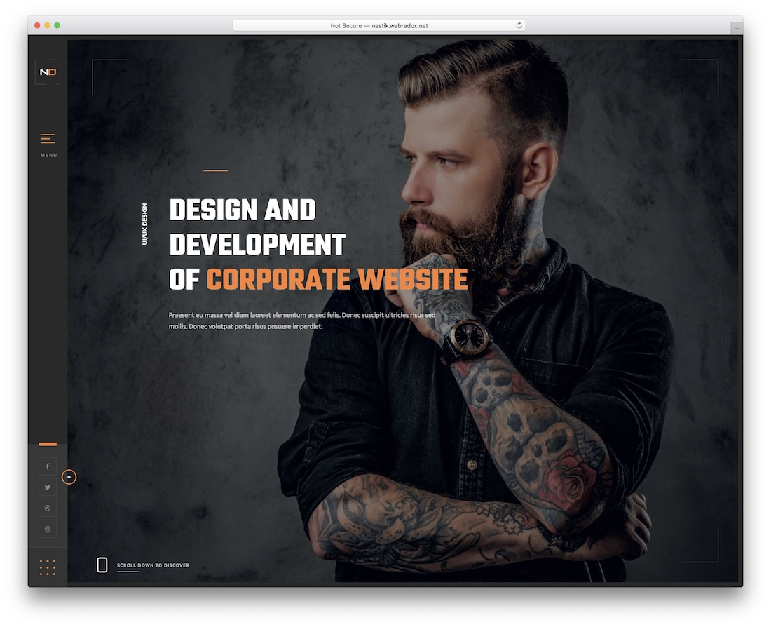 nastik personal website template