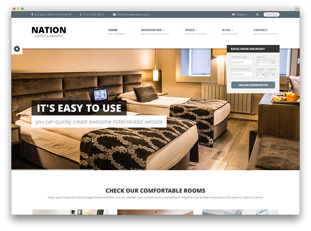 nation hotel booking theme