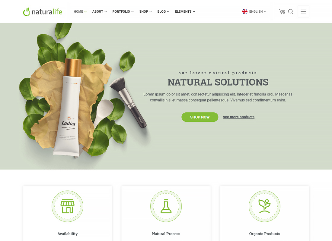 NaturaLife - Health & Organic WordPress Theme
