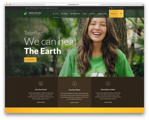Nature Wordpress Themes