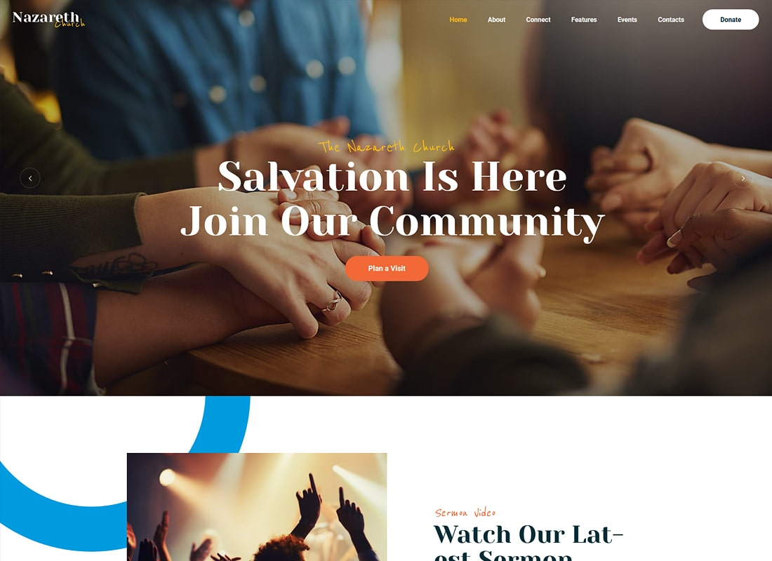 Nazareth | Church & Religion WordPress Theme