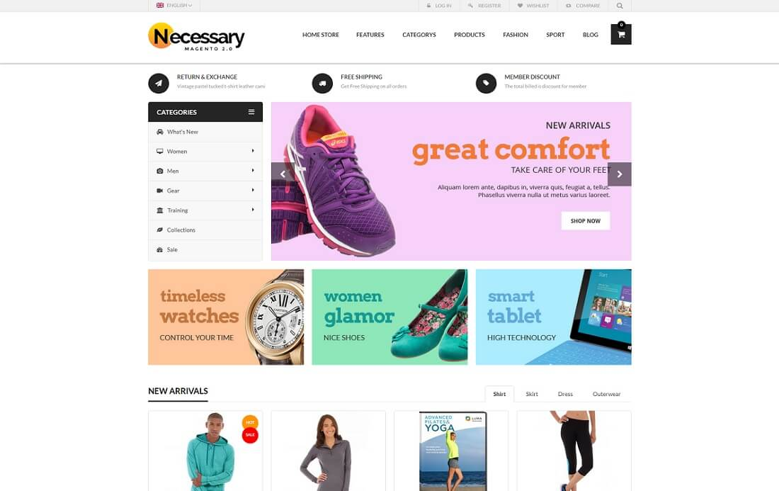 18 free magento templates for your ecommerce sites 2017 colorlib necessary free magento template pronofoot35fo Gallery