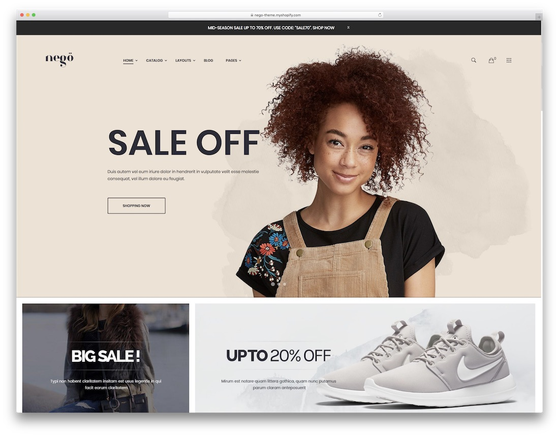 nego fashion shopify theme