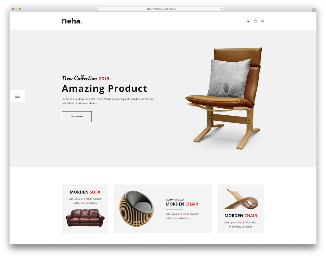 neha ecommerce website template