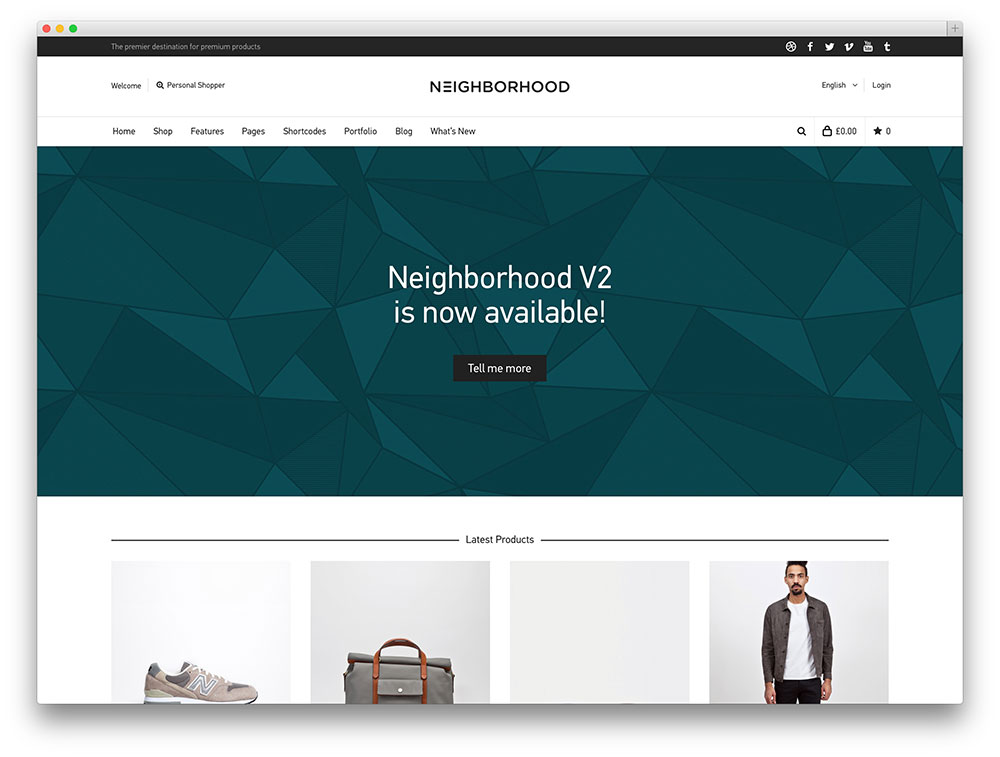 neighborhood WooCommerce theme