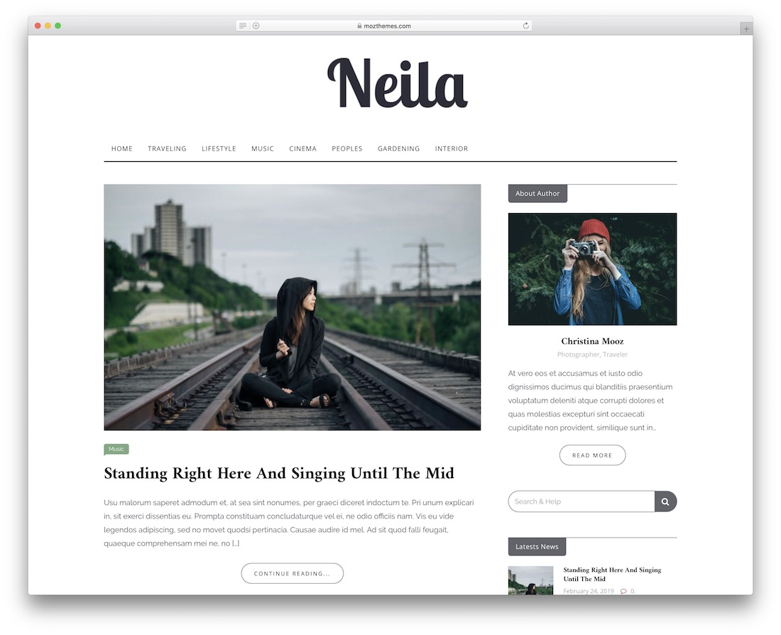 neila free responsive wordpress theme