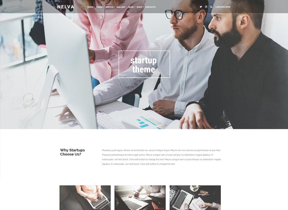 Nelva | Marketing & Startup WordPress Theme