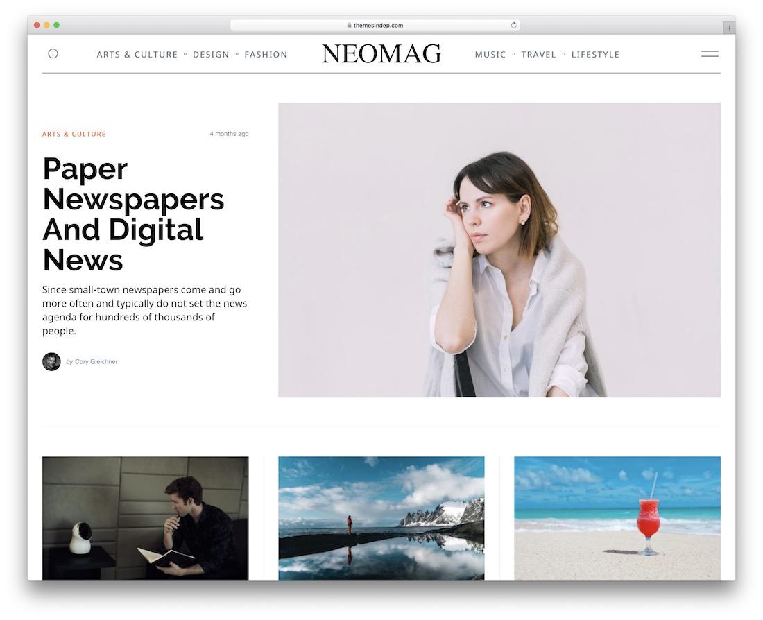 neomag lifestyle wordpress theme