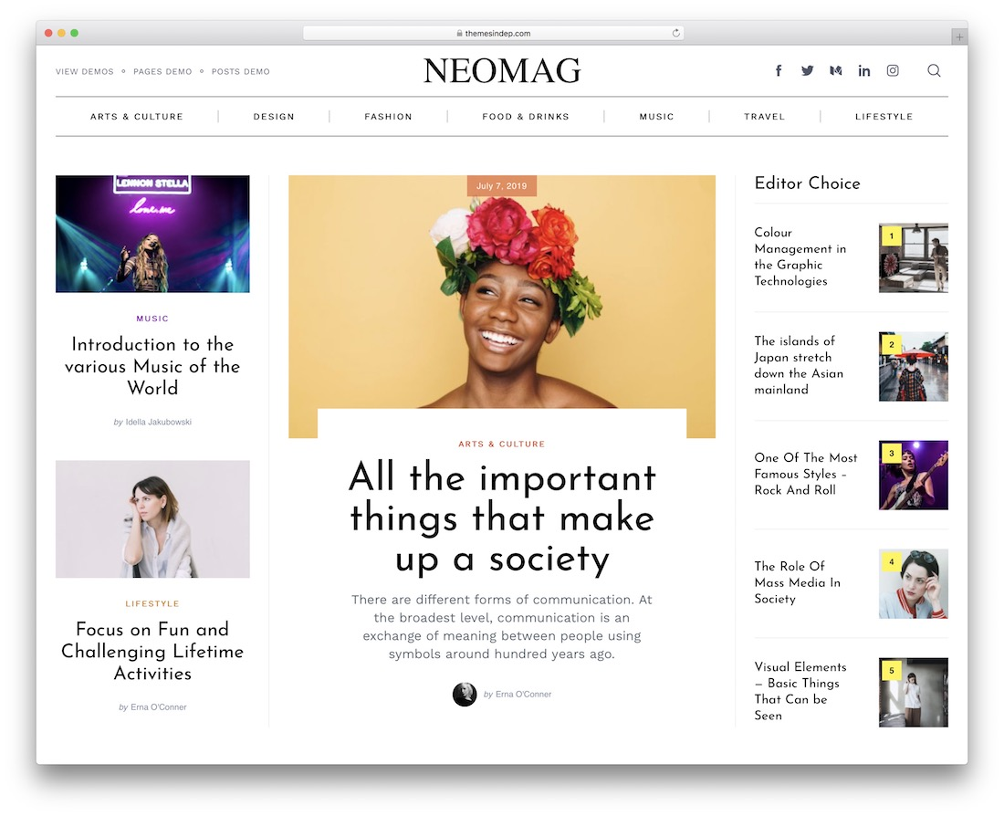 neomag magazine wordpress theme