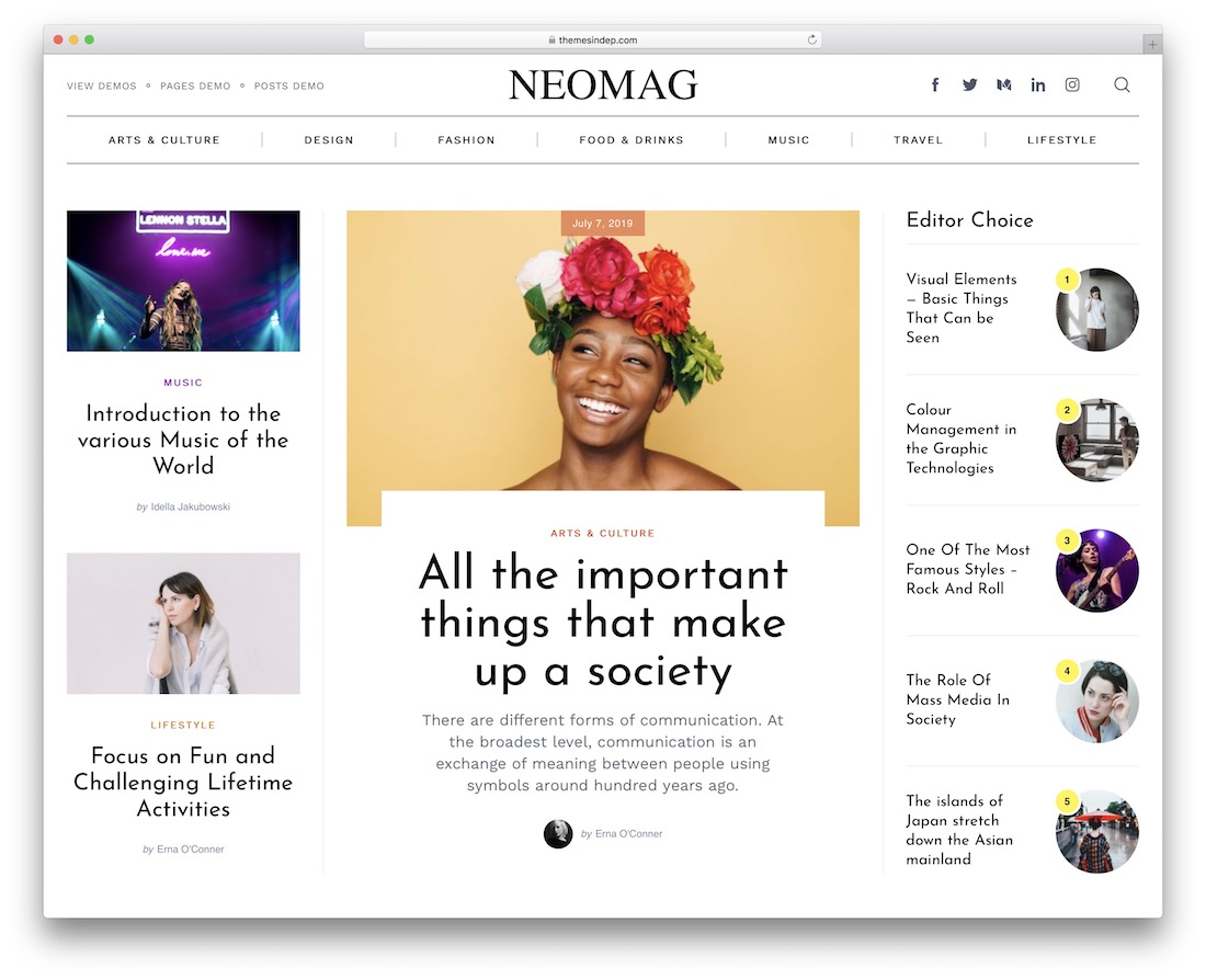 neomag seo optimized wordpress theme