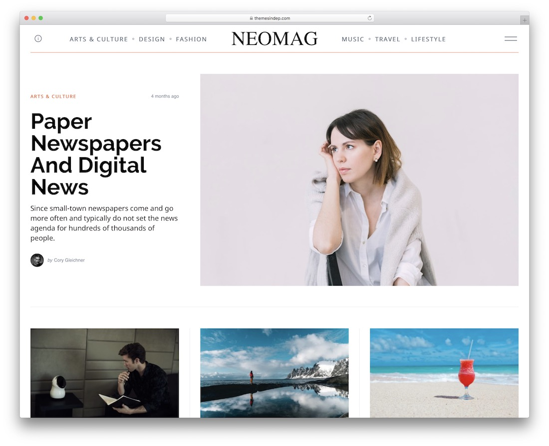 neomag travel magazine theme