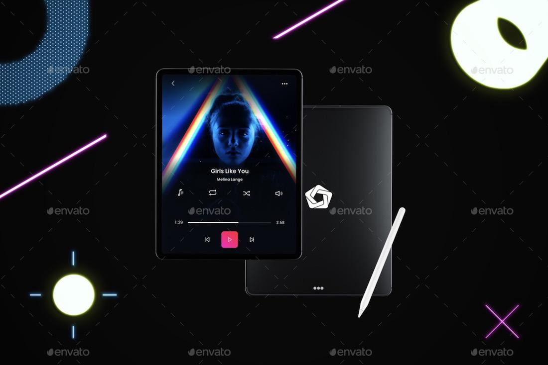 neon tablet pro mockup