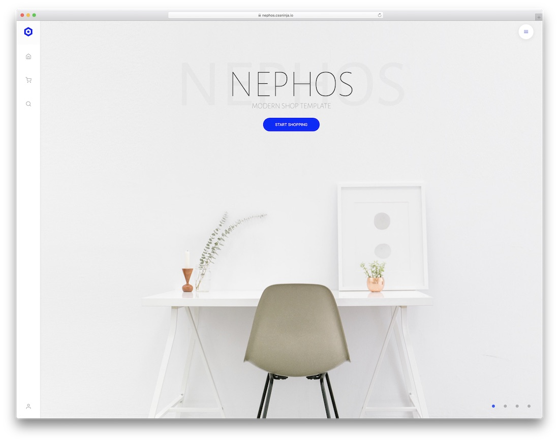 nephos ecommerce website template