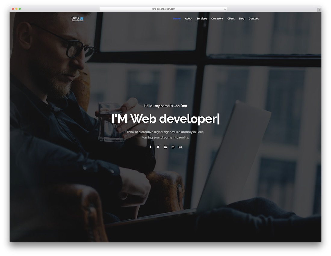 ner bootstrap website template