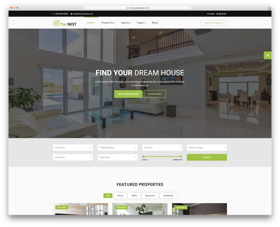 nest bootstrap business website template