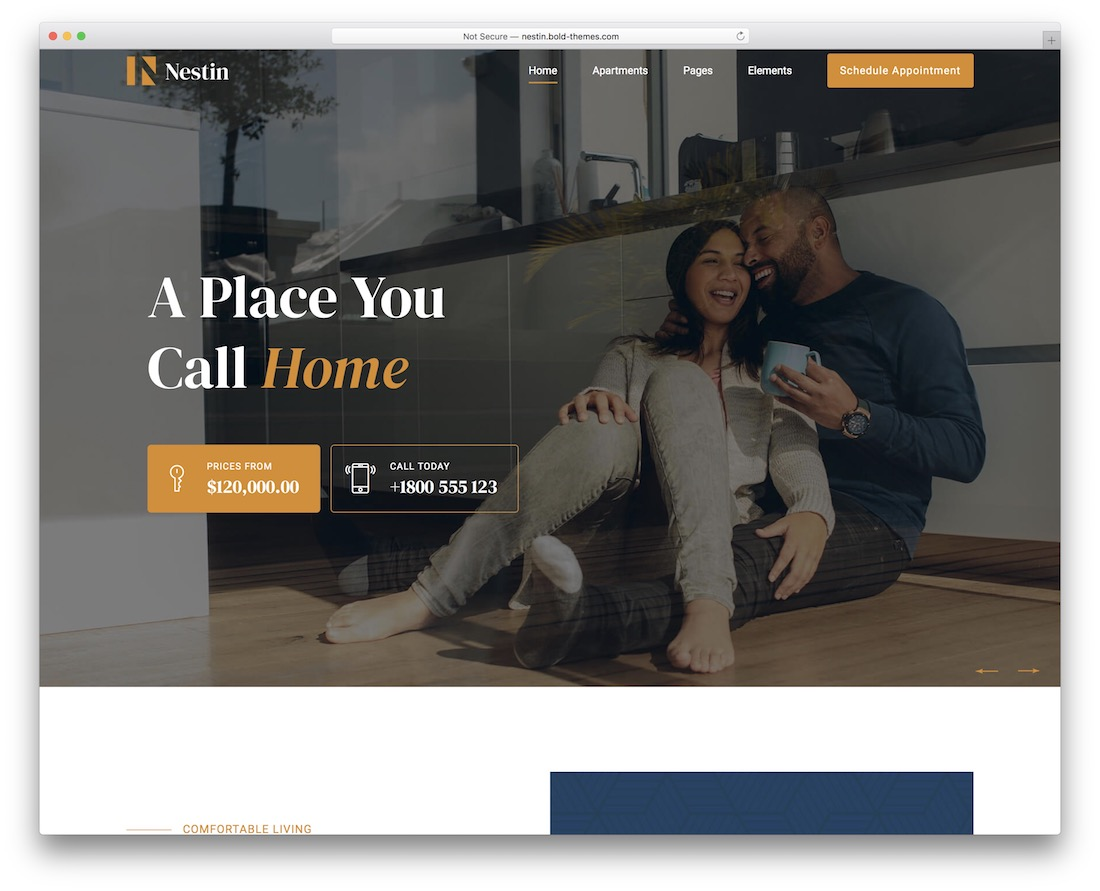 nestin real estate wordpress theme