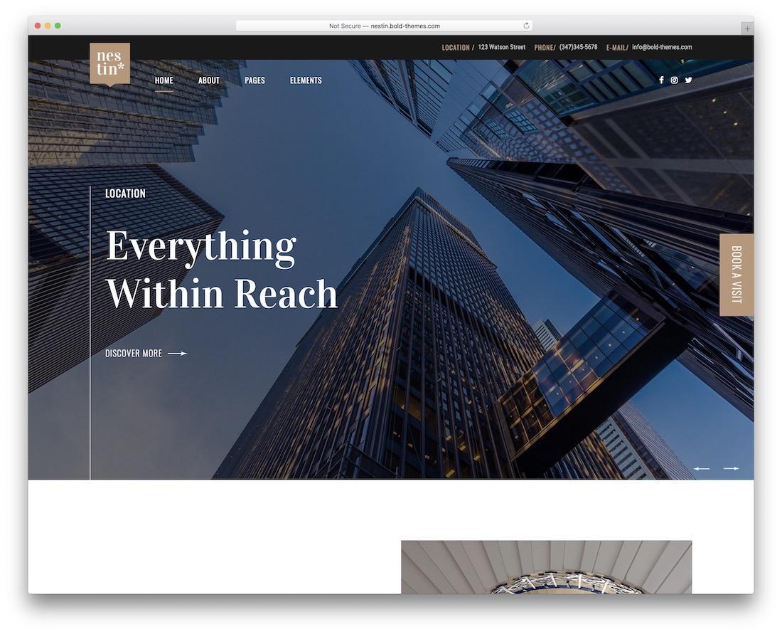 nestin realtor wordpress theme