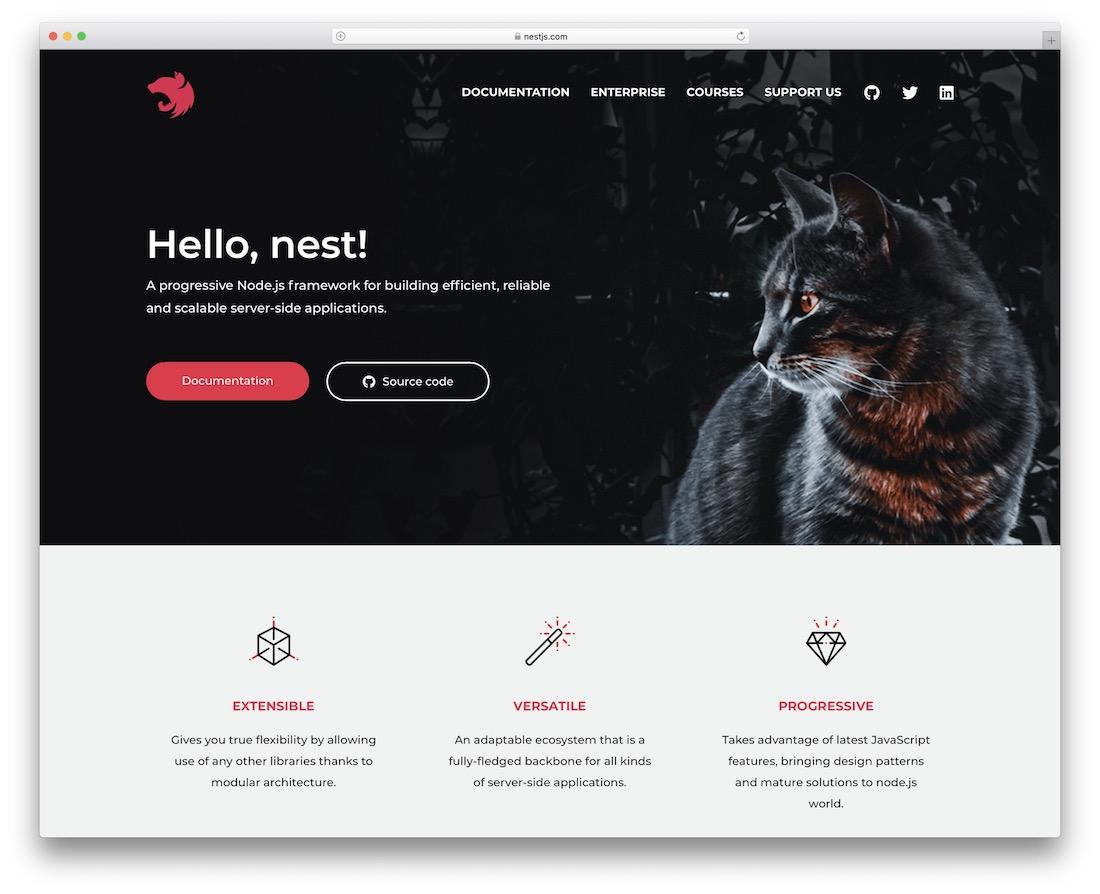 nestjs node js framework
