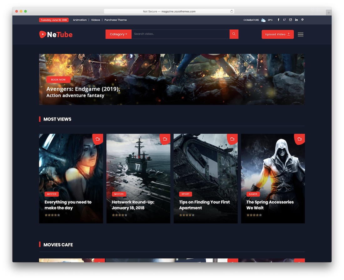 netube wordpress theme