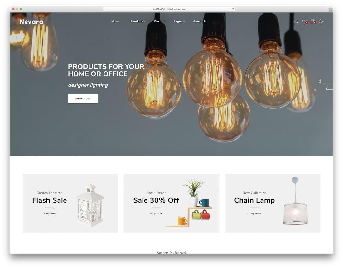 nevara interior design website template