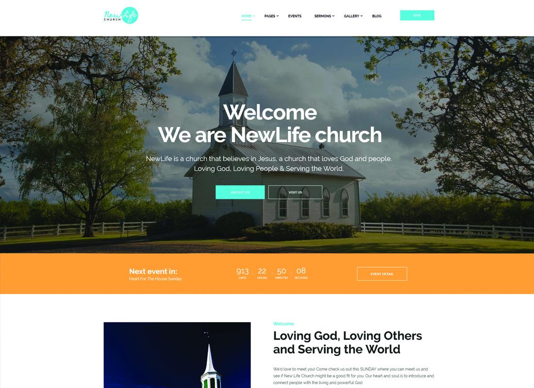 New Life - Church & Religion WordPress Theme