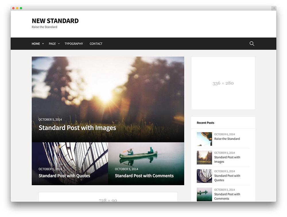 new standard - adsense blog theme