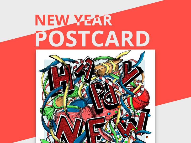 new year postcard freebie