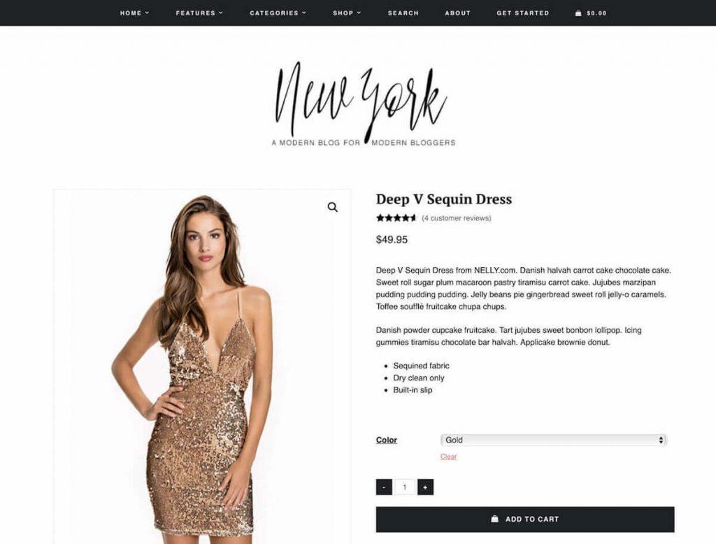 New York - fashion ecommerce wordpress themes