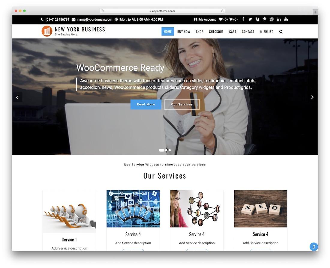 new york free wordpress business theme