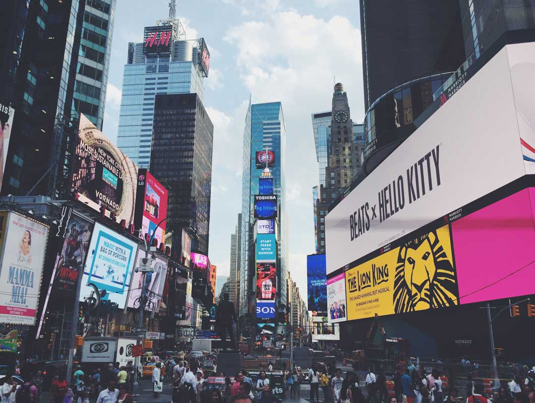 new york times square billboard advertising psd mockup