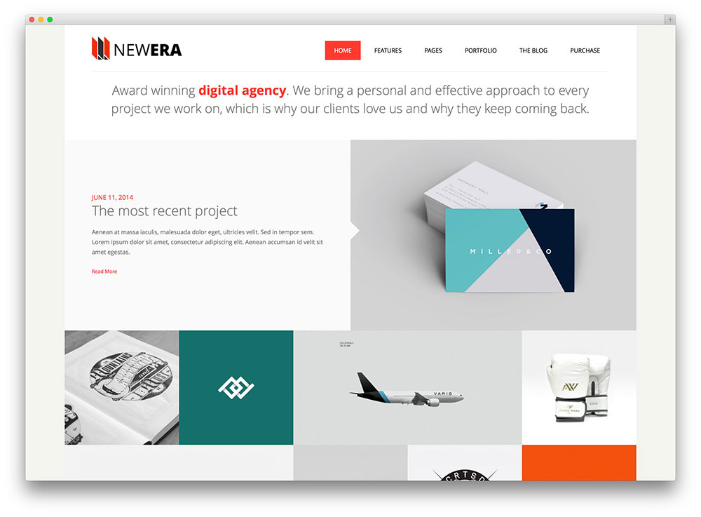 newera creative design agency theme - Home Graphic Design