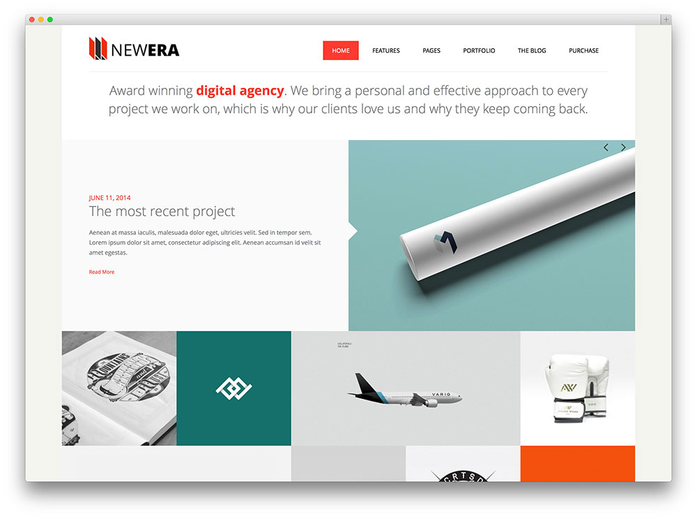 newera creative digital agency theme