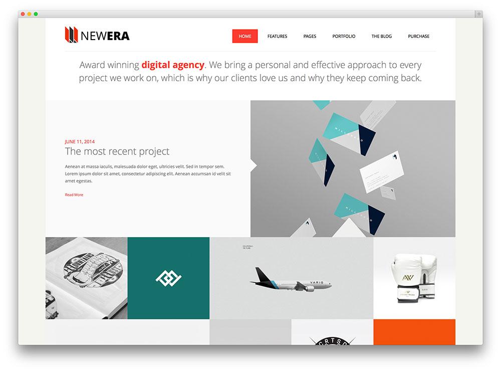 newera clean portfolio theme
