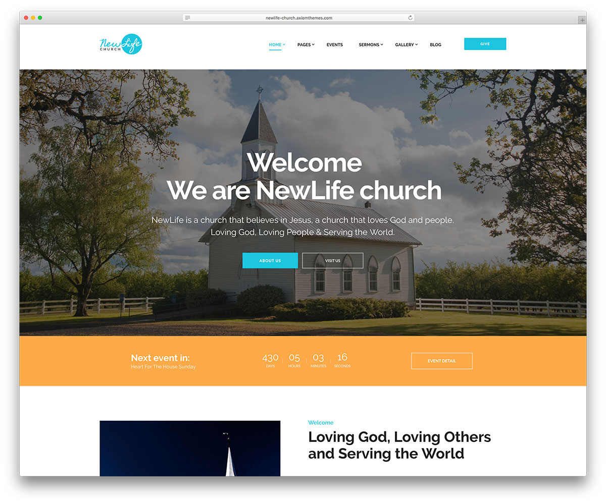 newlife - religious website theme