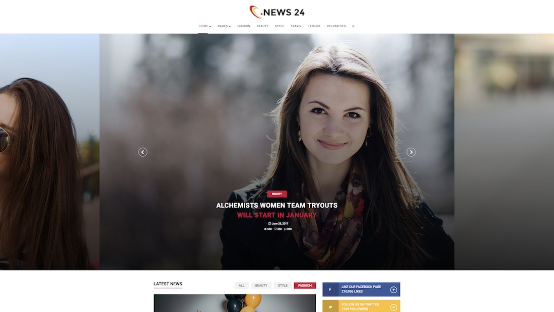 news-24 website template