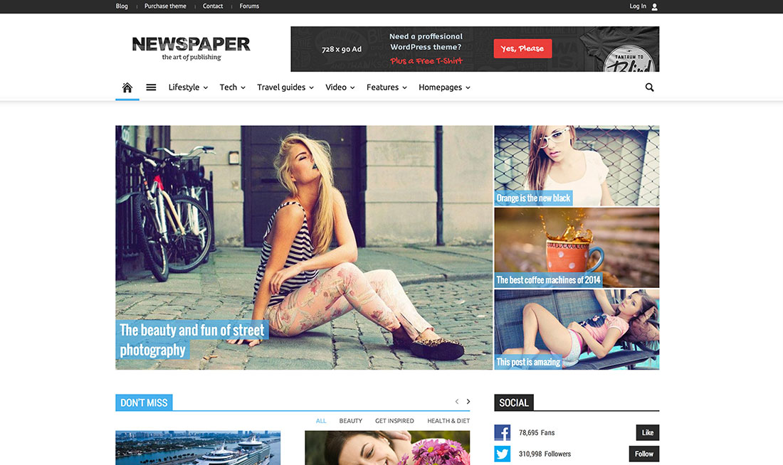 Top 20 Responsive Magazine News WordPress Themes For Blogging And News Sites 2015