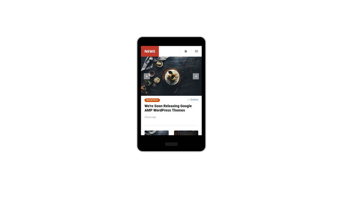 news mobile amp template