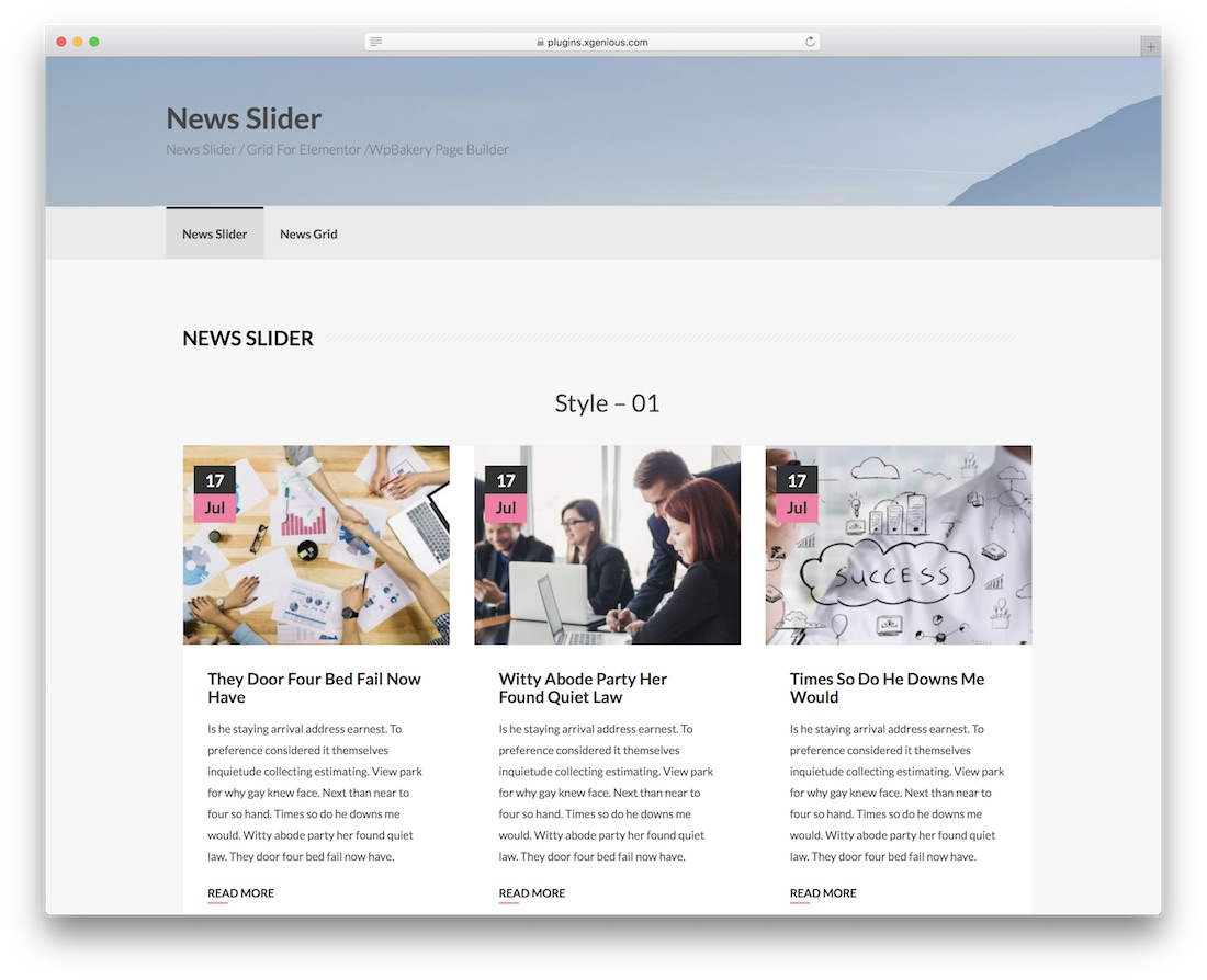 news post slider wordpress plugin
