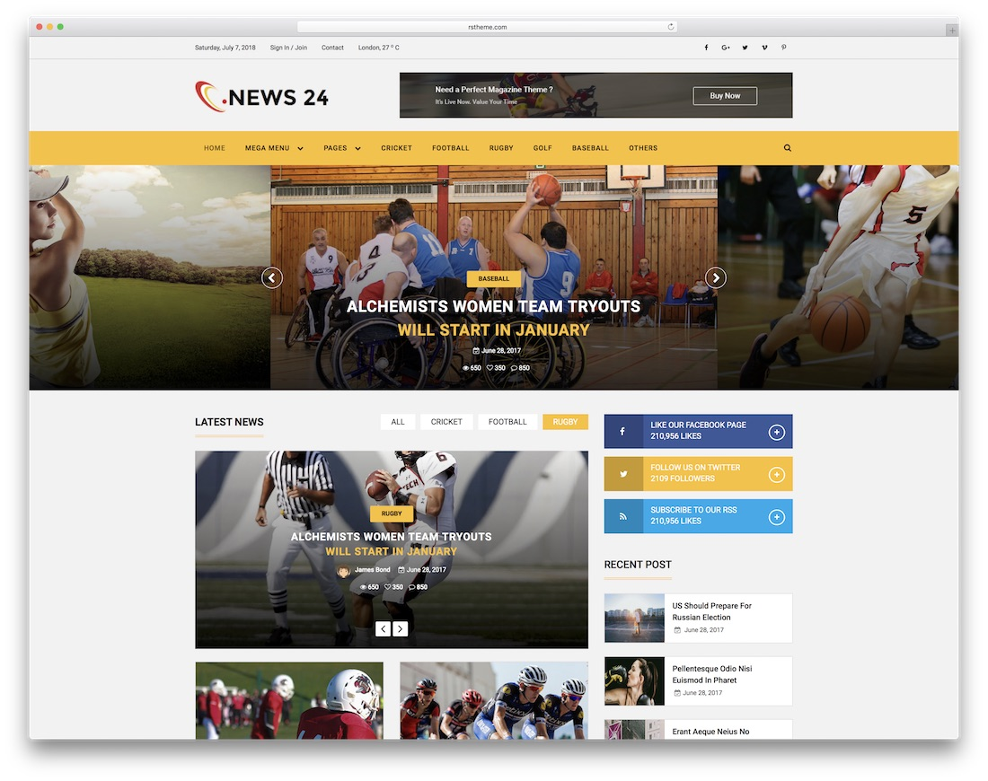 news24 community website template