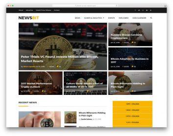 Newsbit Free Template