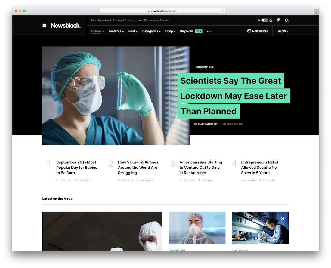 newsblock news wordpress theme