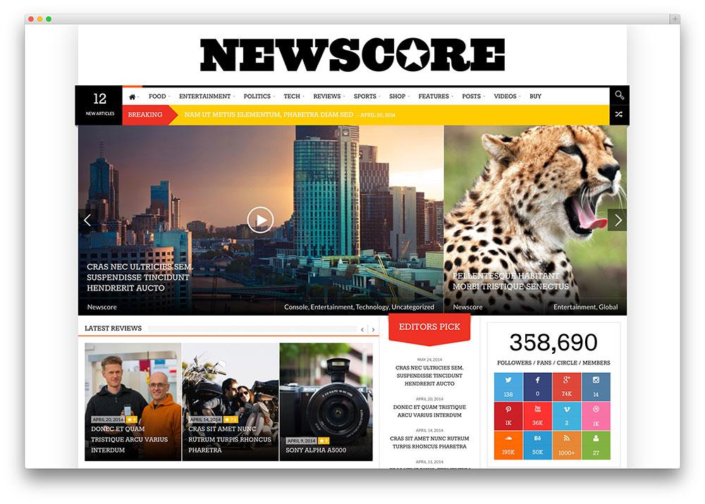 20 Best WordPress Newspaper Themes for News Sites 2017 - Colorlib