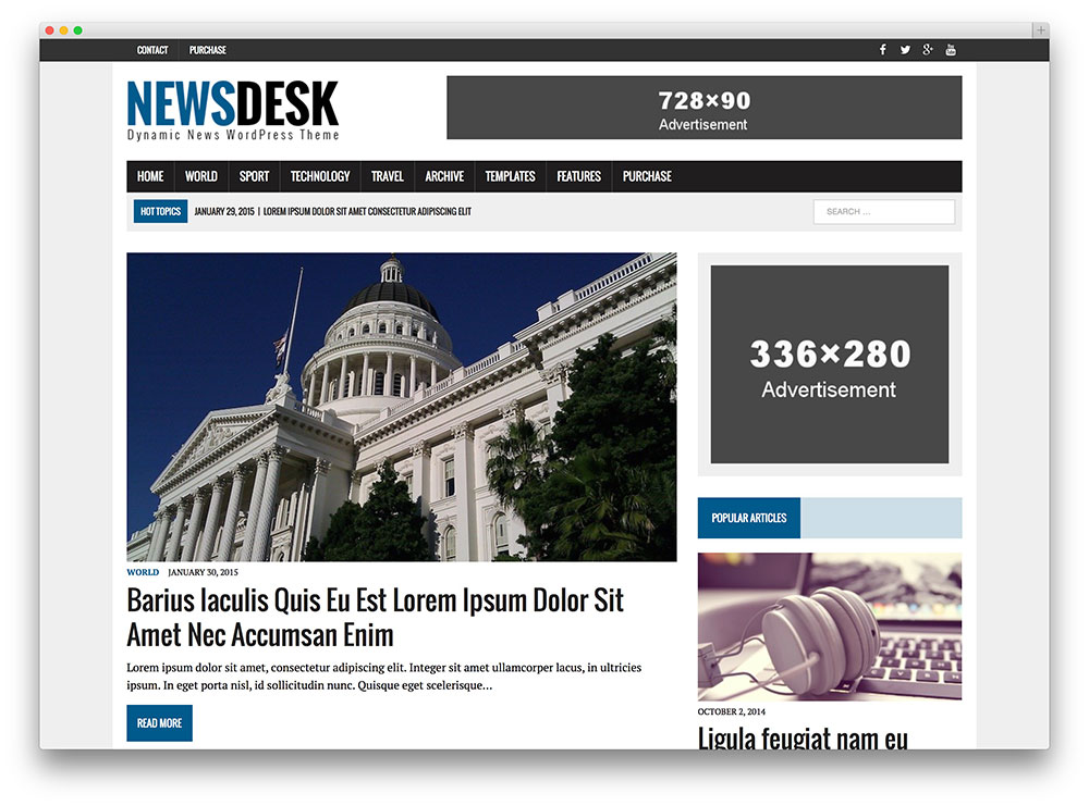 newsdesk magazine wordpress theme