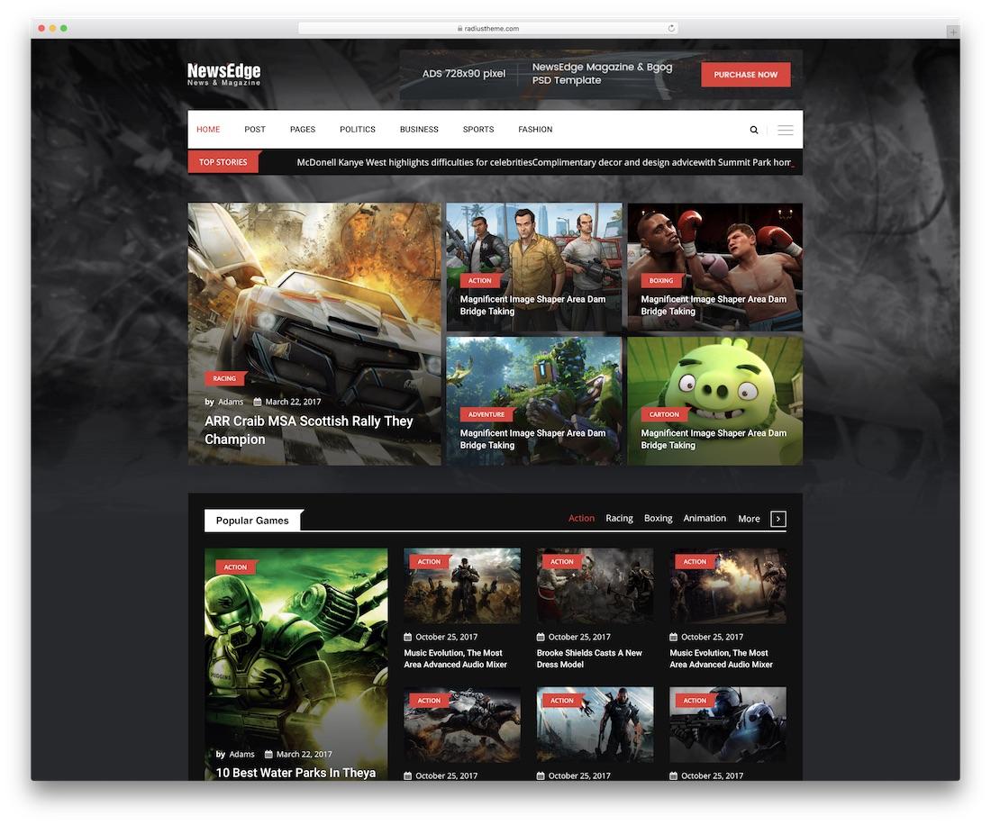 newsedge blog website template