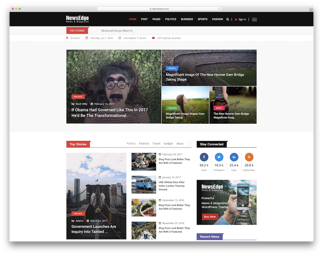 newsedge community website template