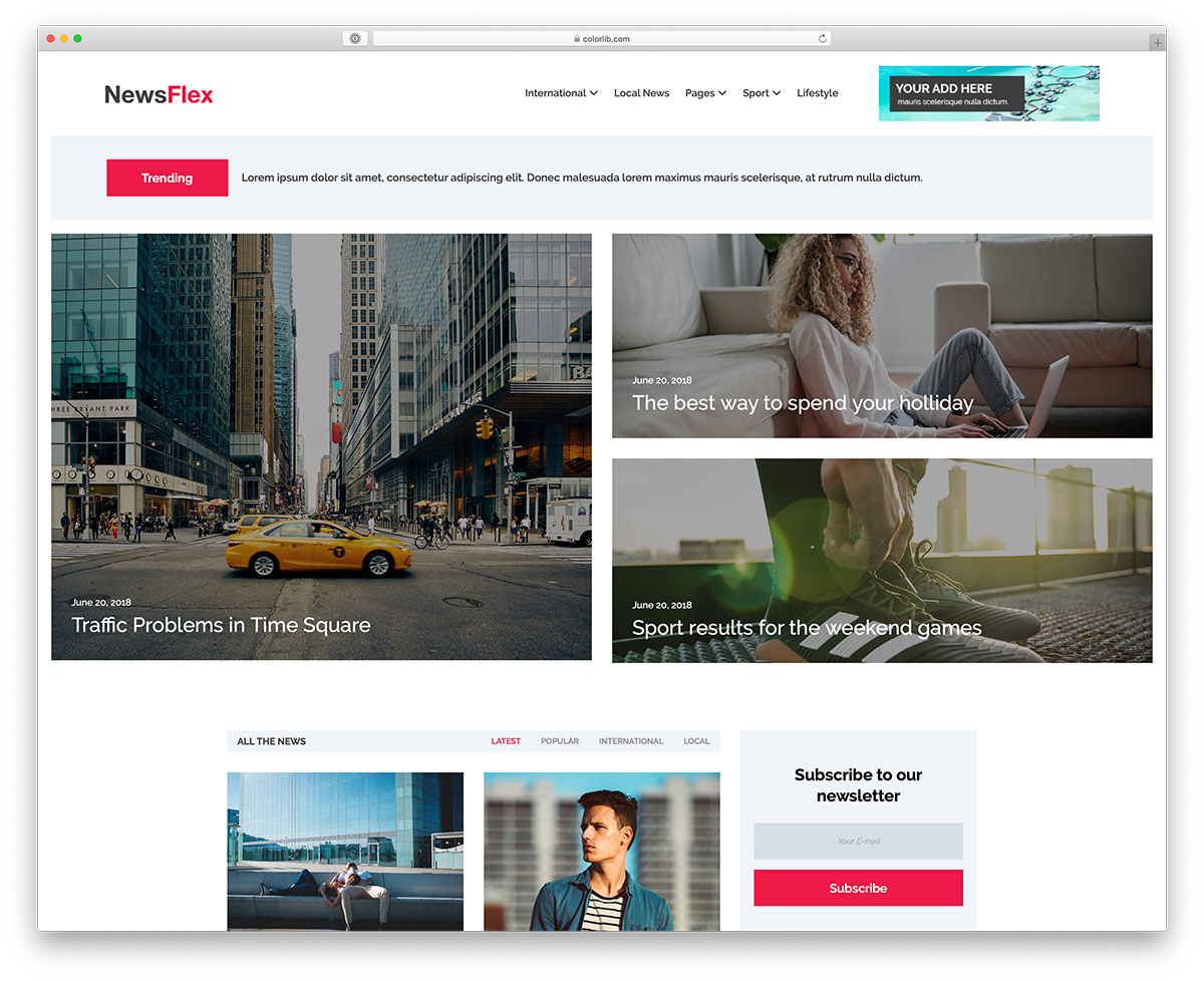 31 Best Free News Website Templates 2019 Colorlib