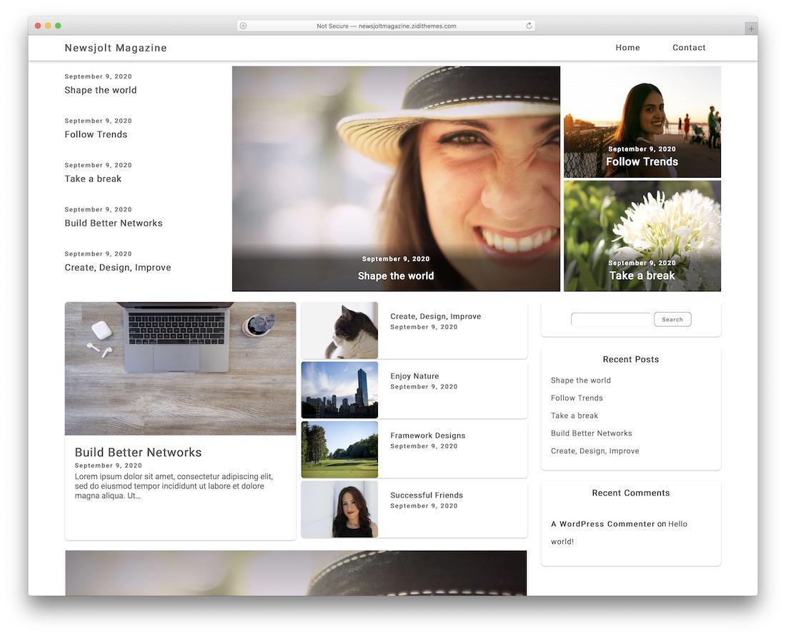 newsjolt free magazine wordpress theme