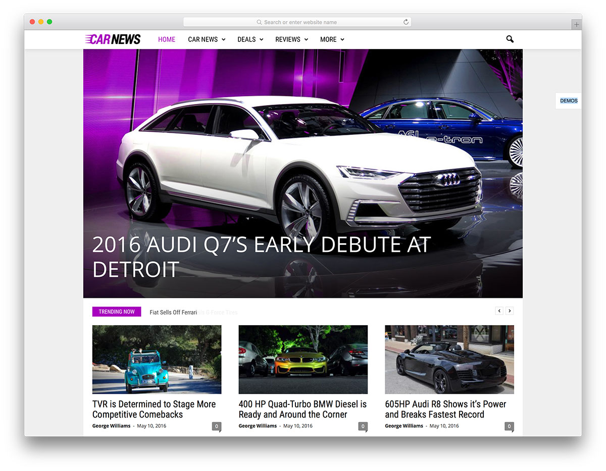 Newsmag auto news wordpress magazine template