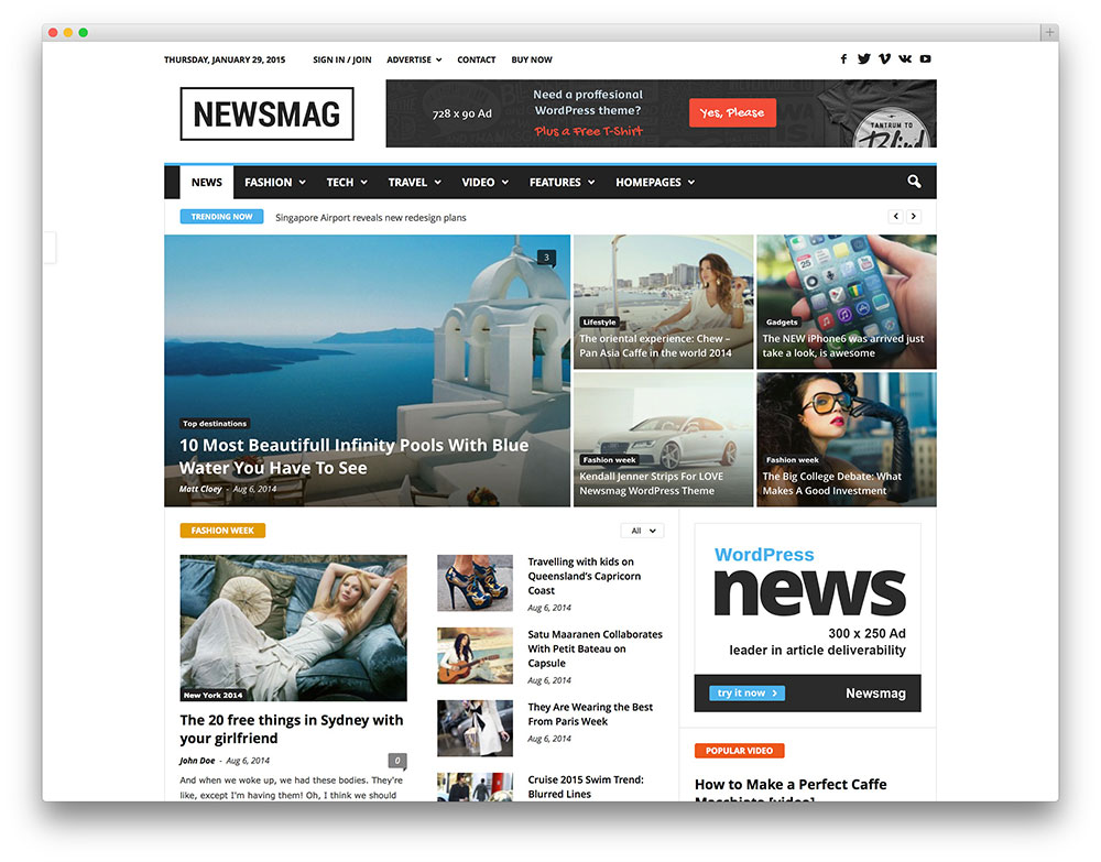 newsmag clean - magazine theme