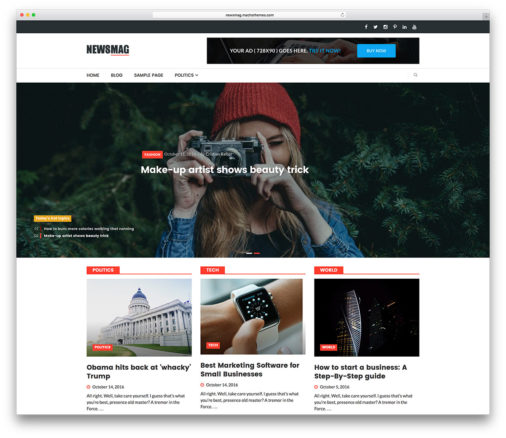 Newsmag Free News Wordpress Theme